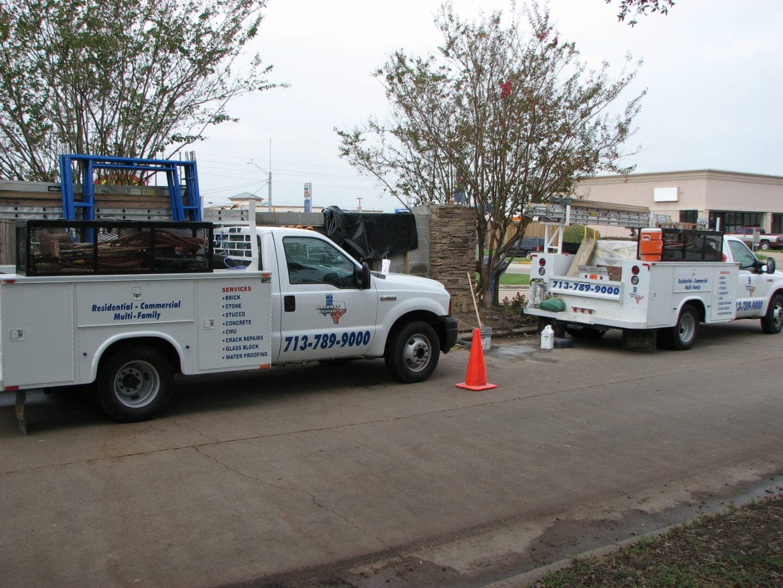 Two Trucks | Masonry Solutions serving Houston-Metro Area