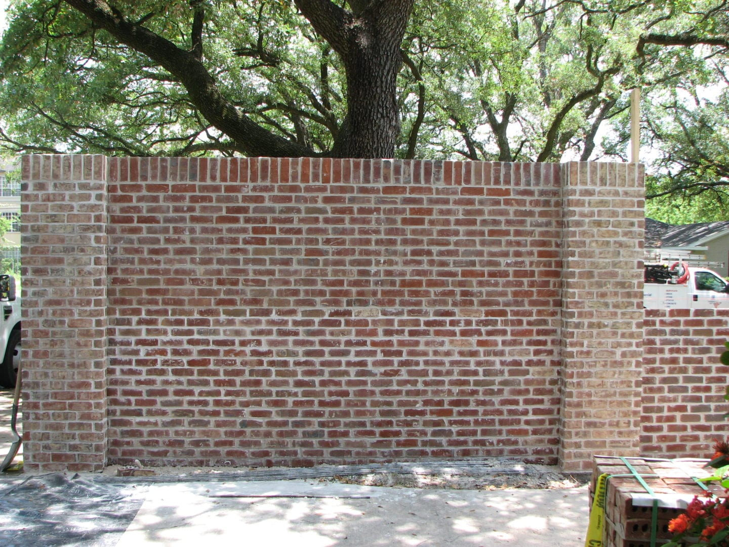 Brick Wall   Monuments and Masonry Fence Repair serving Houston-Metro Area